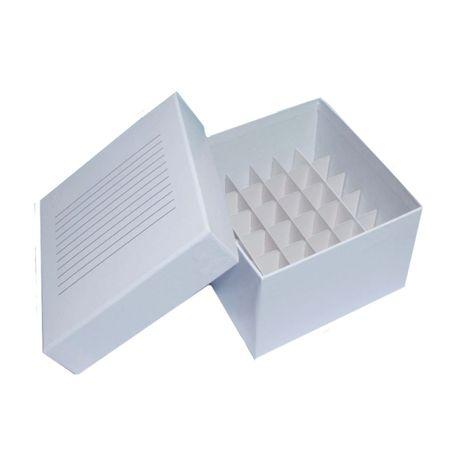 Caixa Tubo Criogênico Fibra de Papelão- 36 Tubos de 5ml