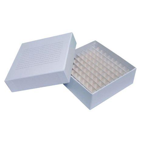 Caixa Tubo Criogênico Fibra de Papelão- 100 Criotubos de 1,5/2,0ml