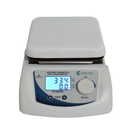 Agitador Magnetico - Digital com Aquecimento 0-2500rpm 5L - 110V