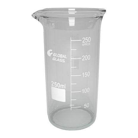 Bequer Forma Alta 150ml Graduado Vidro Boro 3.3