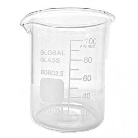 Bequer Forma Baixa 25ml Graduado Vidro Boro 3.3 - CX/ 20 un