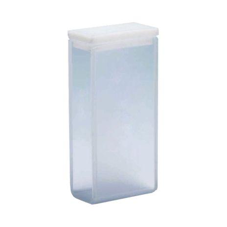 Cubeta Em Vidro Óptico 2 Faces Polidas Passo 20MM 7ml - Fundo Arredondado